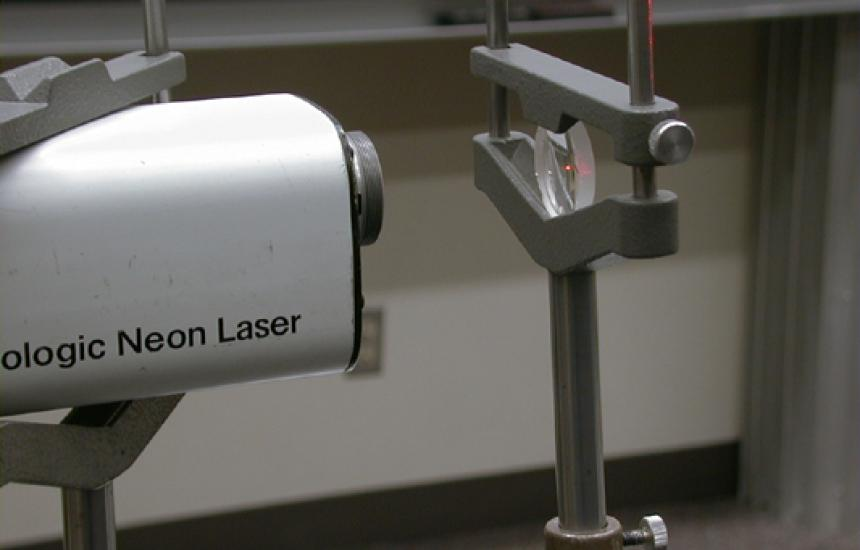 Laser and Lens.