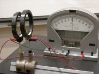 No current and no deflection on the galvanometer from the second coil.