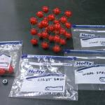 The components of the kit ares shown here. There are light and heavy springs and
