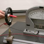Pulling back the magnet causes the galvanometer to deflect in the opposite direc